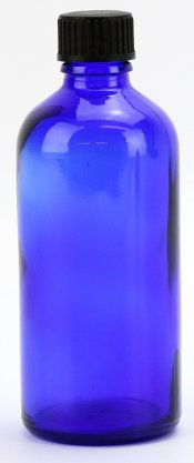 EMPTY BLUE GLASS BOTTLES 100ml